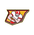 American Football Running Back Run Shield Cartoon vector image