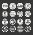 anniversary retro labels 30 years collection 3 vector image vector image