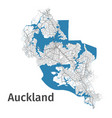 auckland map detailed map city