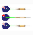 australian darts flag set vector image vector image