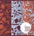 bakery icons seamless pattern vector image