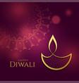 beautiful golden diwali diya festival background vector image vector image