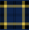 blue black and yellow tartan plaid seamless patter vector image vector image