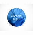 blue circle on white background classic blue vector image vector image