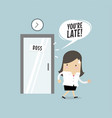 businesswoman working late vector image vector image