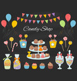 candy shop with colorful vector image vector image