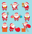 cartoon santa character christmas cute vector image vector image