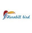 catoon hornbill bird vector image