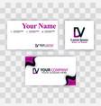 Clean business card template concept purple