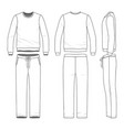 clothing set of sweat suit vector image vector image
