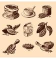cocoa hand drawn sketch vector image vector image