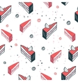 Delicious food seamless background pattern cake vector image vector image