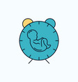 delivery time baby birth child flat icon green vector image