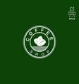 design logo for coffee shop vector image