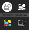 digital nomad dark theme icon vector image