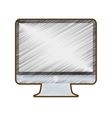 drawing computer screen monitor technology vector image vector image