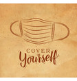 face mask graphic craft vector image vector image