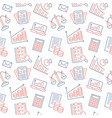 financial accounting seamless pattern with flat vector image