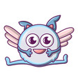flying monster icon cartoon style vector image vector image
