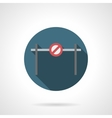 Forbidden barrier round flat icon vector image vector image