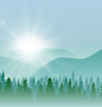 Forest Mountain Background vector image vector image