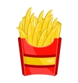 French fries pack vector image