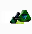 geometric abstract background triangles vector image vector image