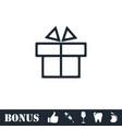 gift box icon flat vector image vector image