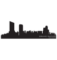 Grand rapids michigan skyline detailed silhouette vector image