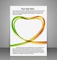 Greeting brochures abstract heart of the colorfull vector image