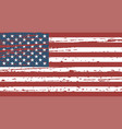 grunge flag united states in superimposition vector image