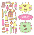 hand drawn candy set vector image vector image