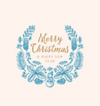 hand drawn christmas greetings sketch wreath vector image vector image