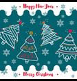 happy new year and merry christmas 2018 40 vector image vector image