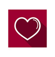 heart icon love symbol valentine day vector image vector image