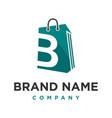 initial logo b shopping bag vector image