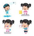 kid bathing vector image vector image