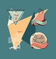 label set retro shopping vector image vector image
