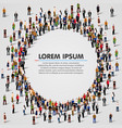 large group of people in the circle shape vector image vector image