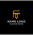 letter f leaf logo vector image vector image