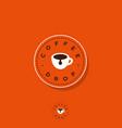 logo coffee drop cafe cup icon vector image vector image