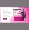 main web page design business style vector image vector image