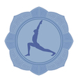 man yoga vector image vector image