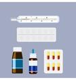 Medicine collection set vector image vector image