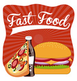 Menu and Food design vector image vector image