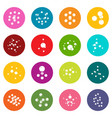 molecule icons set colorful circles vector image vector image