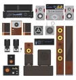 Music systems set vector image vector image