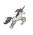 Mythical Unicorn in a magical animal doodle style vector image