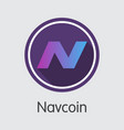 navcoin - virtual currency trading sign vector image vector image
