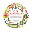 navigation and gps system maps isolated icon or vector image vector image